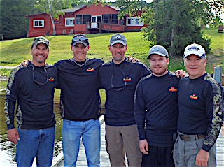 The Al Wortz Fishing Gang of 5 at Fireside Lodge